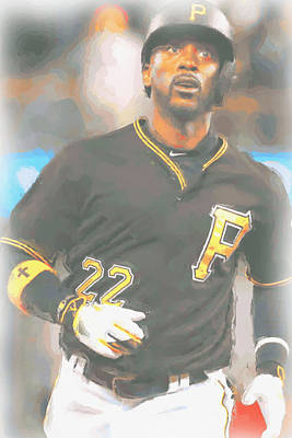 Digital Art - Pittsburgh Pirates Andrew Mccutchen 4 by Joe Hamilton