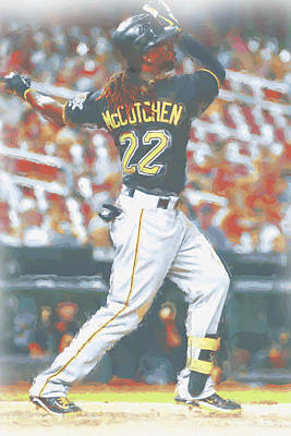 Digital Art - Pittsburgh Pirates Andrew Mccutchen 5 by Joe Hamilton