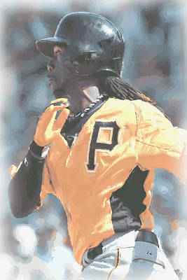Digital Art - Pittsburgh Pirates Andrew Mccutchen by Joe Hamilton