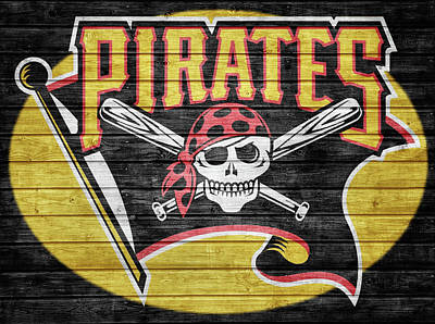 Mixed Media - Pittsburgh Pirates Barn Door by Dan Sproul