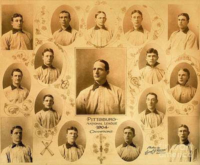 Photograph - Pittsburgh Pirates Baseball Champions 1904 Including Honus Wagner by Peter Gumaer Ogden Collection