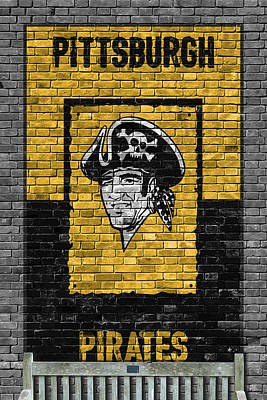 Pittsburgh Pirates Painting - Pittsburgh Pirates Brick Wall by Joe Hamilton