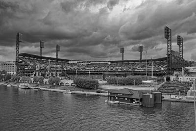 Photograph - Pittsburgh Pirates Pnc Park Bw A by David Haskett II