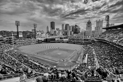 Photograph - Pittsburgh Pirates Pnc Park Bw X by David Haskett II
