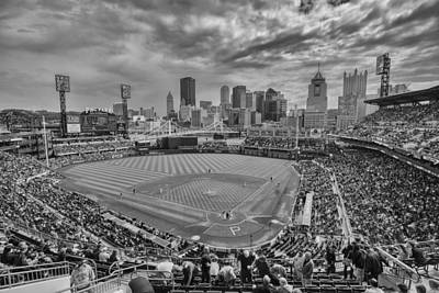 At Poster Photograph - Pittsburgh Pirates Pnc Park Bw X1 by David Haskett
