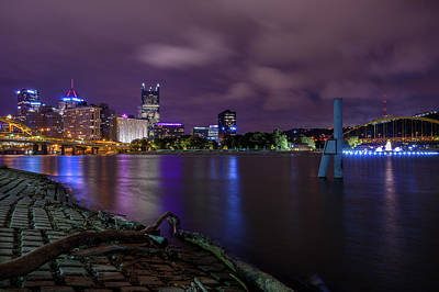 Photograph - Pittsburgh Skyline At Night by Lori Coleman