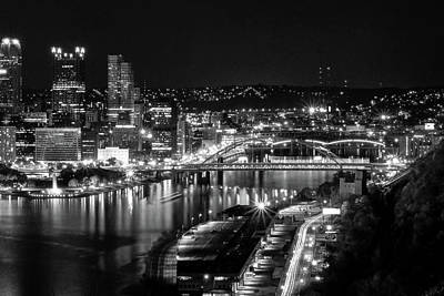 Photograph - Pittsburgh Skyline At Night by Michelle Joseph-Long