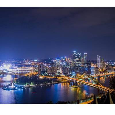 Cityscape Photograph - #pittsburgh #skyline by David Haskett