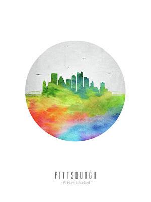 Pittsburgh Arts Digital Art - Pittsburgh Skyline Uspapi20 by Aged Pixel