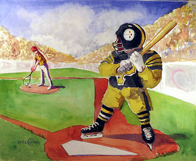 Pittsburgh Painting - Pittsburgh Sports Dream by Will White