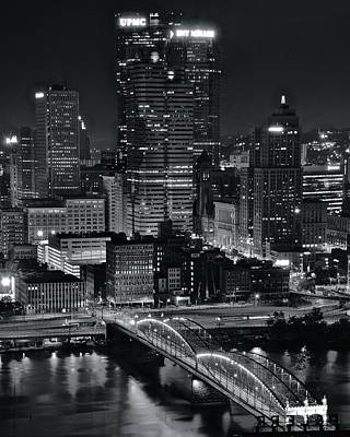 Photograph - Pittsburgh Standing Tall In Black And White by Frozen in Time Fine Art Photography