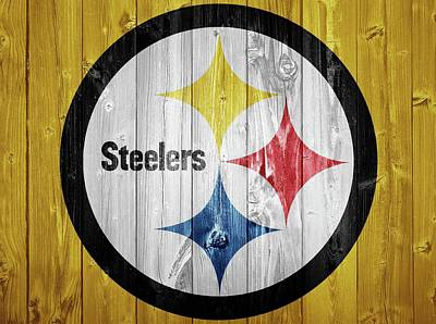 Pittsburgh Steelers Barn Door Art Print by Dan Sproul