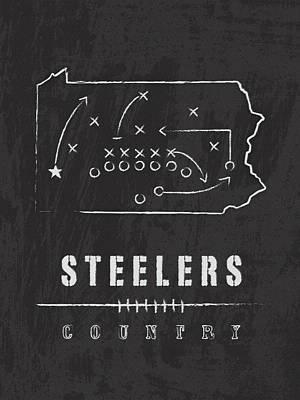 Pittsburgh Steelers Art - Nfl Football Wall Print Art Print by Damon Gray