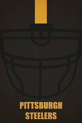 Painting - Pittsburgh Steelers Helmet Art by Joe Hamilton