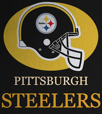 Bus Mixed Media - Pittsburgh Steelers Metal Sign by Dan Sproul