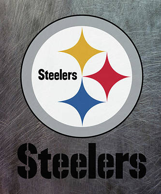 Pittsburgh Steelers On An Abraded Steel Texture Art Print