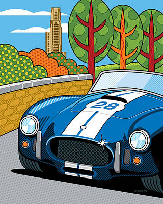 Pittsburgh Vintage Grand Prix Art Print by Ron Magnes