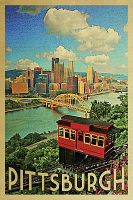 Pittsburgh Vintage Travel Poster Art Print by Flo Karp