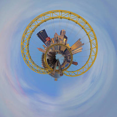 Photograph - Pittsburgh West End Bridge Little Planet  by Emmanuel Panagiotakis