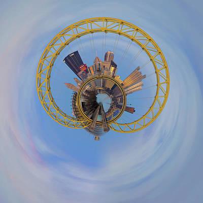 Photograph - Pittsburgh West End Bridge Little Planet  by Emmanuel Panagiotakis