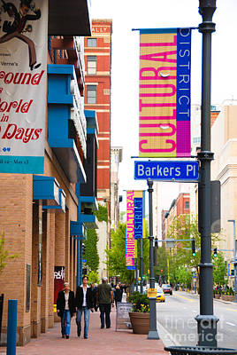 Pittsburghs Cultural District Art Print by Amy Cicconi