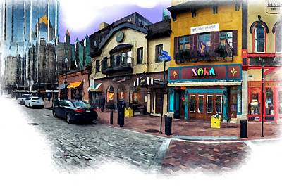 Pittsburgh Pirates Digital Art - Pittsburgh's Market Square by Mattucci Photography