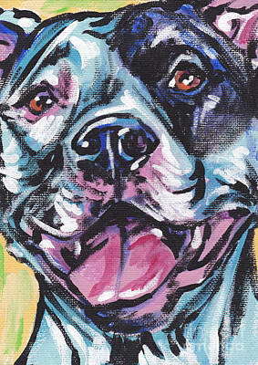 Pitbull Painting - Pity The Pit by Lea S