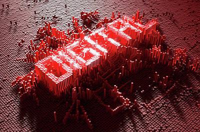 Language Digital Art - Pixel Digital Concept by Allan Swart
