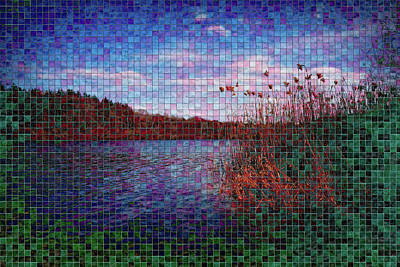 Digital Art - Pixel Lake by Chris Hood
