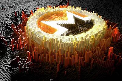 Virtual Digital Art - Pixel Monero Concept by Allan Swart