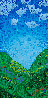 Painting - Pixelated Valley by Sacha Hope