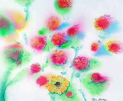 Pixie Flowers Art Print by Tina Storey