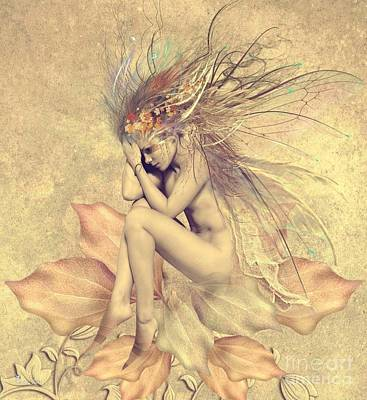 Digital Art - Pixie Of The Autumn by Ali Oppy