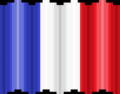 Digital Art - Pixilated Tricolore by Gerald Lynch