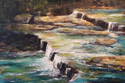 Painting - Pixley Falls Park Ny by Alan Lakin