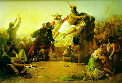 Pizarro Seizing The Inca Of Peruv Art Print