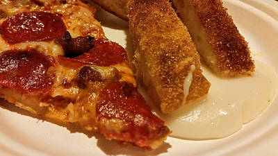 Photograph - Pizza And Breadsticks by Pamela Walton