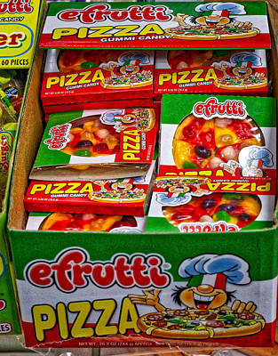 Pittsburgh According To Ron Magnes - Pizza candy by Ronald Watkins