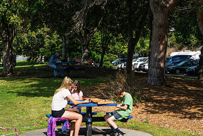Photograph - Pizza In The Park by Tom Cochran