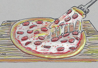 Pizza Art Print by Masha Batkova