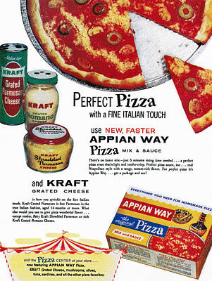 Grate Photograph - Pizza Mix Ad, 1960 by Granger