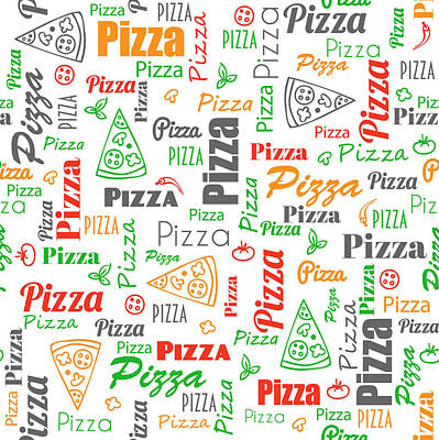 Pizza Pattern Art Print by Ludmila Novikova