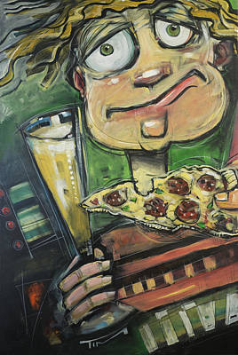 Painting - Pizza, Pete And Pilsner by Tim Nyberg
