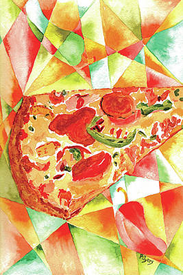 Painting - Pizza Pizza by Paula Ayers