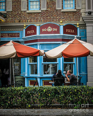 Impressionist Landscapes - Pizza Shop by Perry Webster