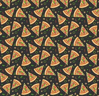Pizza Slices Art Print by Ludmila Novikova