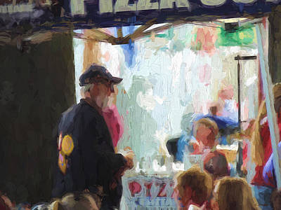 Painting - Pizza Stand by Cathy Jourdan