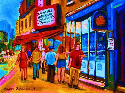 Montreal Street Life Painting - Pizza To Go by Carole Spandau