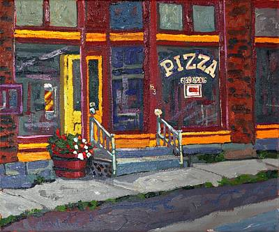 Pizza To Go Gone Art Print by Phil Chadwick