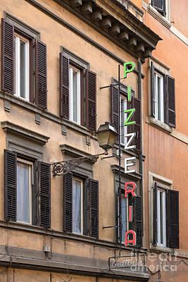 Pizzeria - Rome Print by Richard Thomas